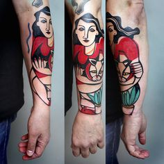 Cubist Tattoos by Peter Aurisch – Fubiz Media