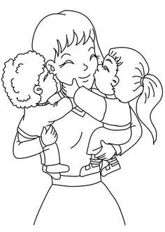 Mothers Day Coloring Sheets Printable Fresh top 20 Free Printable Mother's Day Coloring Pages Line Mothers Day Coloring Sheets, Mothers Day Coloring Pages, Puppy Coloring Pages, Unicorn Coloring Pages, Easy Coloring Pages, Coloring Pages For Kids, Coloring Books, Mothers Day Drawings, Image Mom