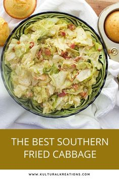 This recipe isn't called The Best Southern Fried Cabbage for nothing. You won't be able to get enough of this dish flavored with bacon, aromatics and seasonings. Side Dish Recipes, Lunch Recipes, Vegetable Recipes, Dinner Recipes, Cooking Recipes, Healthy Recipes, Delicious Recipes, Easy Recipes, Holiday Recipes