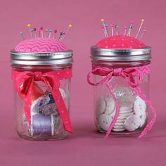 Pin Cushion Mason Jar Craft