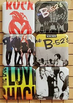Check out this item in my Etsy shop https://www.etsy.com/listing/400003417/fridge-magnets-b52s-new-wave-magnets