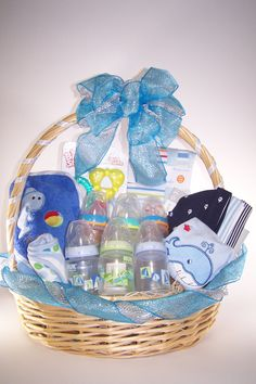 Diy baby shower gift basket ideas for boys pinterest baby shower baby shower its a boy gift basket negle Gallery