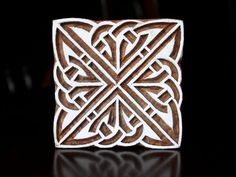Hand Carved Indian Wood Textile Stamp Block- Square Celtic Pattern. $31.00, via Etsy.  Texture patterns.