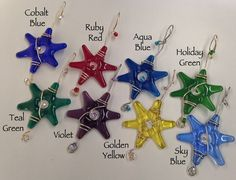 Mini Star Ornaments / Set of 3 / Your Choice of Colors in Rainbow Hues / Suncatcher / Gift Wrap Decoration / Dorm Room Decor / Rainbow Hues by IntheShadeoftheSycamoreTree, $25.00 USD
