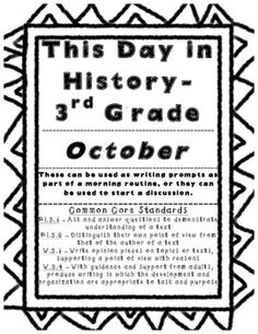 We use this for morning work every day. One of our class jobs is historian, and the historians read the fact for the day. The students then respond to the questions. I teach 3rd grade but I think any grade could use this as a writing prompt, morning work, or even a packet for fast finishers!