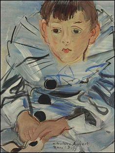 Raoul Dufy (French, Portrait of Claude Moulon in Pierrot's costume, 1935 Oil on Canvas, x in. Henri Matisse, Anime Comics, Pierrot Costume, Art Fauvisme, Maurice De Vlaminck, Raoul Dufy, Samuel Beckett, Claude Monet, Art Lessons