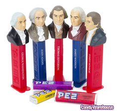(Follow-up to Shelley's pin: the first 5 prez Pez) Presidents 1789-1825 PEZ Candy Dispensers: 5-Piece Gift Box