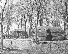 Traditional Ojibwa homes – 1925