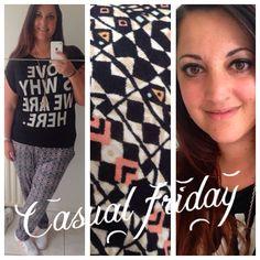 Casual friday met shirt van America today, broek van H&m en gympies van Adidas. Lovefashionxl.nl