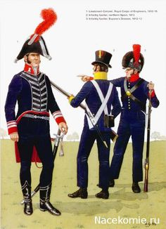 Spanish Army of the Napoleonic Wars (2) 1808-1812 1-Lieutnant Colonel, Royal Corps of Engineers 1812-15 2-Infantry fusilier northern spain 1812 3-Infantry fusilier Espana's Division 1812-13