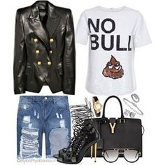 Instagram photo by styleismyobsession - Miss Me With That Bull  (Facebook.com/MyMomentsInStyle)  Blazer: Balmain Top: Ashish Shorts: Choies.com Heels: Tom Ford Bag: Saint Laurent Sunglasses: Cazal  #tgif #lotd #ootd #outfit #style #fashion #styleinspiration #stylish #casualchic #mmis #whattowear #blogger #blog #fashion #fashionblog #fashionista #fashionblogger #fashiondiaries #saintlaurent #tomford #balmain #luxury #glamour #womensfashion #photooftheday #picoftheday #instastyle #instadaily…