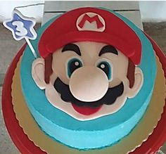 bolo super mario chantilly glace #bolomario #bolosupermario #festamario #mariobros Bolo Super Mario, Mario E Luigi, Nintendo Party, Cake, Desserts, White Icing, Cake Ideas, Recipes, Party