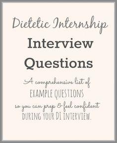 Dietetic Internship Interview Questions | StephanieRDN.com #RD2Be