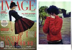 Image Magazine Nov '13 : Stylist Paula Hughes : MARLA Jumper in Acid Red