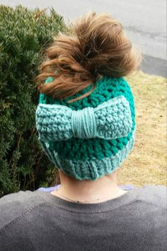 Messy Bun Crochet Hat - Bun Optional  Check out this item in my Etsy shop https://www.etsy.com/listing/507044799/messy-bun-hat