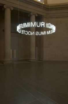 "CERITH WYN EVANS, IN GIRUM IMUS NOCTE ET CONSUMIMUR IGNI 2006: ""gyrating, we go into the night and are consumed by fire."" part of the tate's collection."