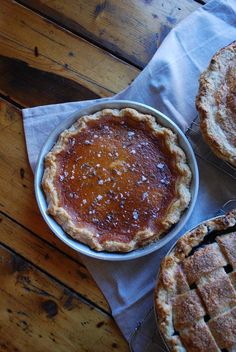 Salted Honey Lavender Pie