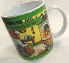Love My Sleepytime Tea! Celestial Seasonings #Sleepytime Tea Coffee Mug Tea 1993 Vintage Bear family  #CelestialSeasonings