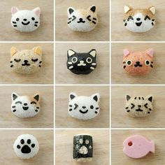 Neko rice balls: Pattern Guide!