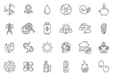 Green energy icon set. Business Infographic. $8.00