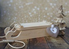 Wooden sleigh photography prop Children and by propsbackdrops