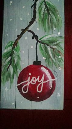 Hochwertig Rustic Christmas Decor. Wall Or Mantel Piece With Natural Pine Branch And  Red Ornament. Rustikale WeihnachtenKaminsimseWeihnachtsdekorationWand Dekor