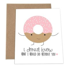 Who doesn't love Puns? Check out these adorable cards made by a company called ImPaper. Whatever the occasion may be, these cards make great entertainment. Soy check them out! (You'll understand the reference once you see them) (donuts craft) Cute Puns, Funny Puns, Funny Sarcasm, Funny Food, Funny Cards, Cute Cards, Pun Card, Card Card, Karten Diy