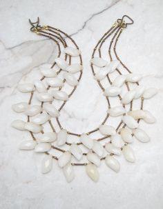 Statement Necklace.Bohemian Necklace.Multi Strand Necklace.Big Bold…