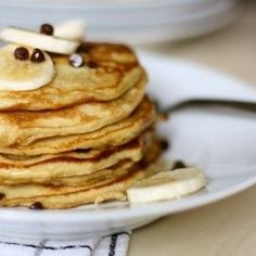 Note from Mommypotamus: Hey ya'll! Danielle from Against All Grain is stopping by today to share her recipe for light and fluffy chocolate chip pancakes. I had the privilege of testing the recipe this morning and I have one piece of advice for you: Make a double batch! I'll Make You Banana Pancakes, Pretend Like …