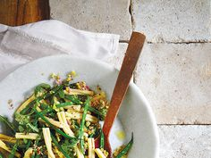Lemon and shallots marry for a bright taste that's ideal for a ladies' lunch or light supper. With beans and pasta.