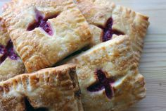 Strawberry Rhubarb & Lavender Cream Cheese Tarts