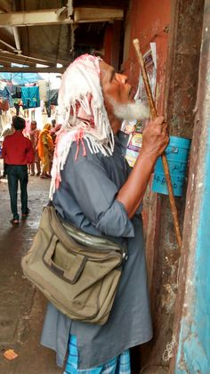 Dabbawala Beggar in the slaughter house slums bandra