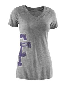 CrossFit HQ Store- Her Letterman Tee - Short Sleeve Tees - Women Buy Authentic CrossFit T-Shirts, CrossFit Gear, Accessories and Clothing