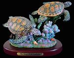 Double Sea Turtles Statue