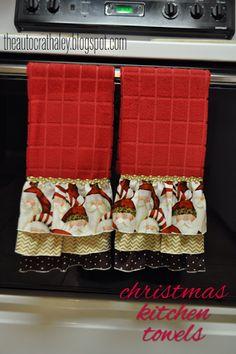 The Autocrat: Ruffled Christmas Dish Towels