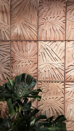 The detail in this wood on the wall has a very interesting texture. This texture adds to the pattern on the wall and creates a nice focal point for a space. It bring a unique design to the room also. Nachhaltiges Design, Design Blog, Tile Design, Design Ideas, Dashboard Design, Interior Walls, Interior And Exterior, Feature Wall Design, Estilo Interior