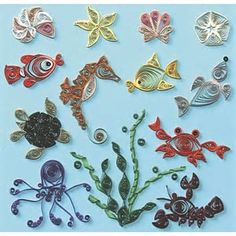 Image result for Paper Quilling Animals Sea