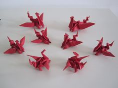 Origami Dragons made by Ars Origami. Like us on www.facebook.com/ArsOrigami
