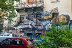 "Mural by WD, (Wild Drawing) in Exarchia area. Discovering street art in Athens, ""The new Berlin"""