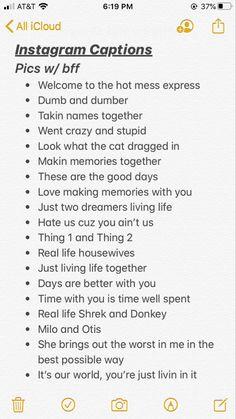 Instagram Picture Quotes, Instagram Captions For Friends, Cute Instagram Captions, Fotos Do Instagram, Best Bio For Instagram, Bff Quotes, Real Quotes, Mood Quotes, Quotes For Bios