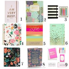 Whimsical 17 Month Agendas and Organizers