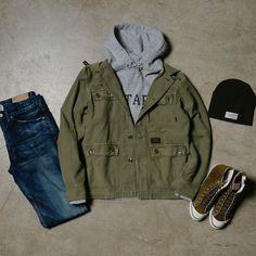#havenshop #ootd include #WTAPS design hoody, Jungle shirt and Skinny Trash Denim, NBHD beanie and Goodyear suede sneakers