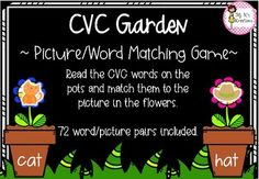 CVC Garden Literacy Games, Cvc Words, Word Pictures, Matching Games, Garden, Lawn And Garden, Gardens, Outdoor, Home Landscaping