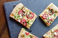 balsamic strawberry and goat cheese flatbread - Click image to find more Food & Drink Pinterest pins