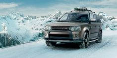13 Model Year Range Rover Sport – Front three quarter view in snow