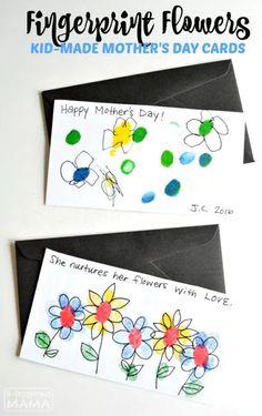 Sweet Fingerprint Flowers – Handmade Mother's Day Cards for Kids