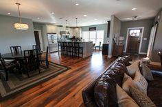 Kitchen, Breakfast Room, Family Room, Foyer, Open floor plan, Repurposed Barn Wood Flooring, Custom Built by Foreman Builders, Winchester VA