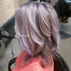 Love my new colour & wanted to show it off. Lilac highlights with blonde hair.
