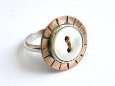 Ring Copper Silver Eco Friendly by ligiarocha on Etsy, $50.00