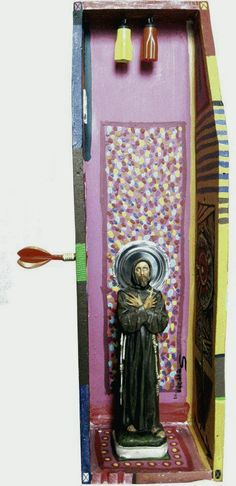 El Santo..? - técnica Mixta- 52x21x12cm 2011